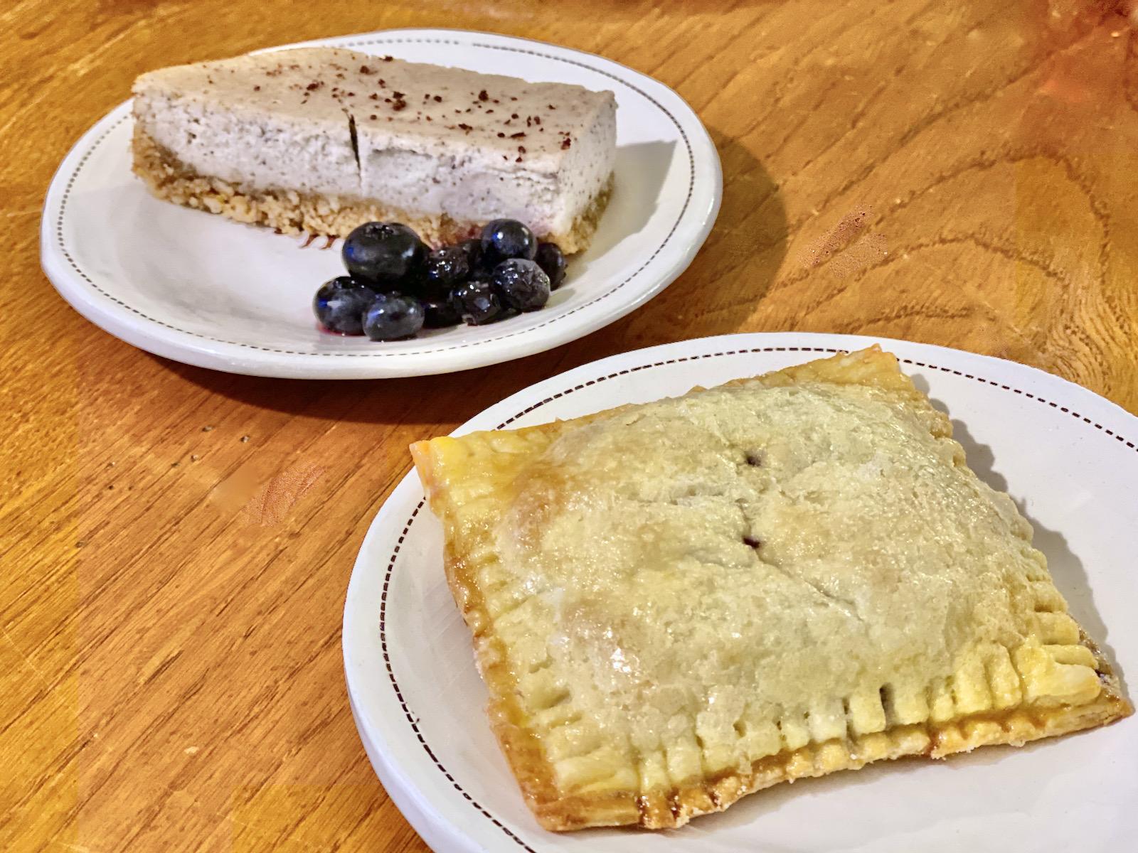 Goodkind sumac lemon bar and blueberry hand pie