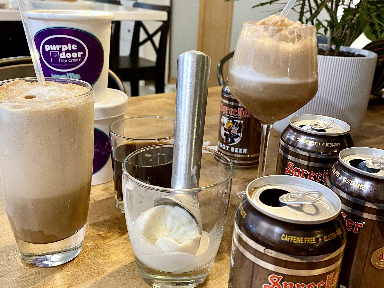 Purple Door Ice Cream root beer float kit
