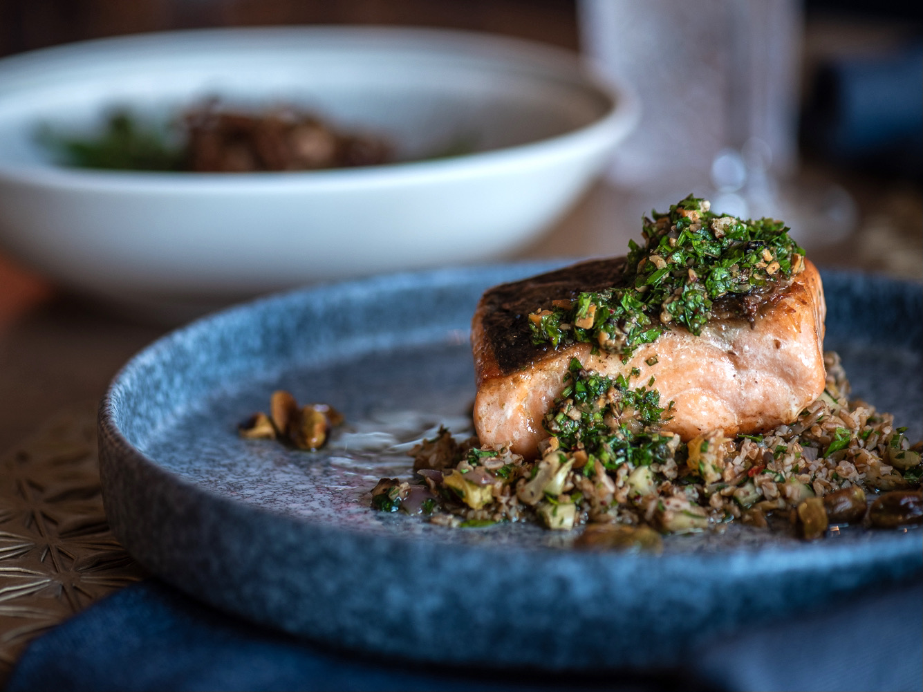 Salmon Salsa Verde