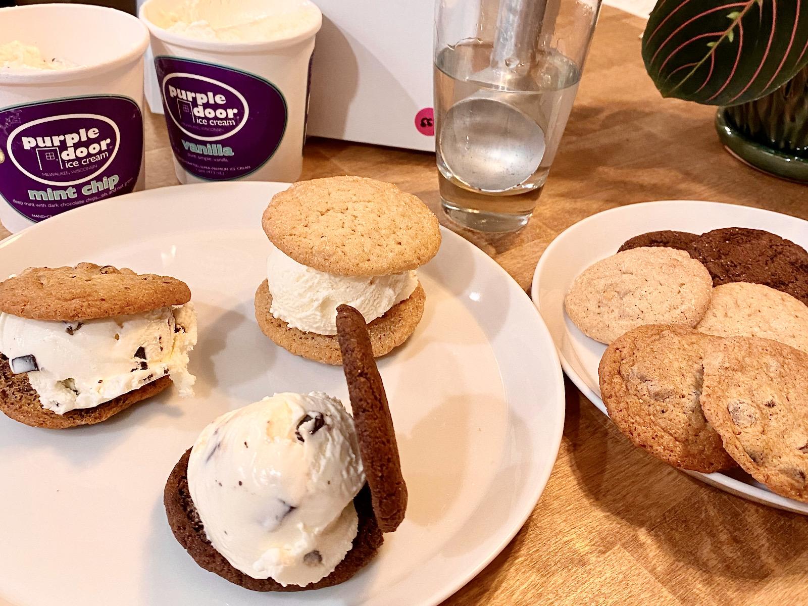 Purple Door Ice Cream ice cream sandwich kit