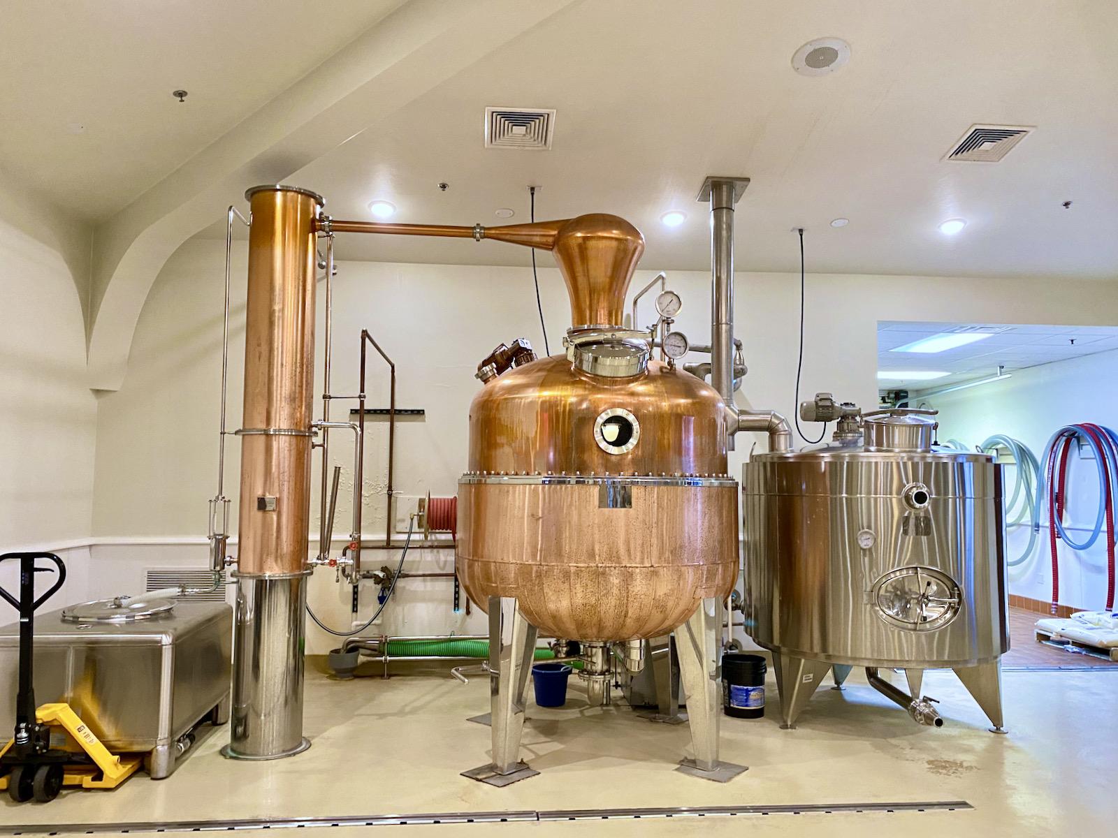 The still at Door County Distillery