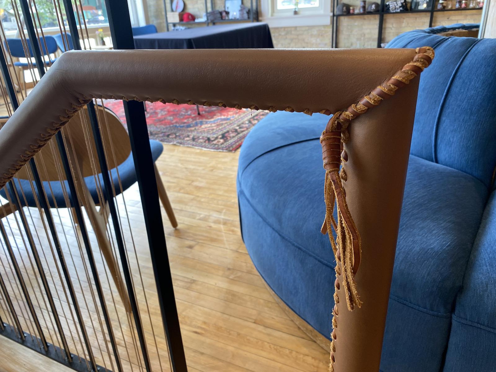 Leather railings