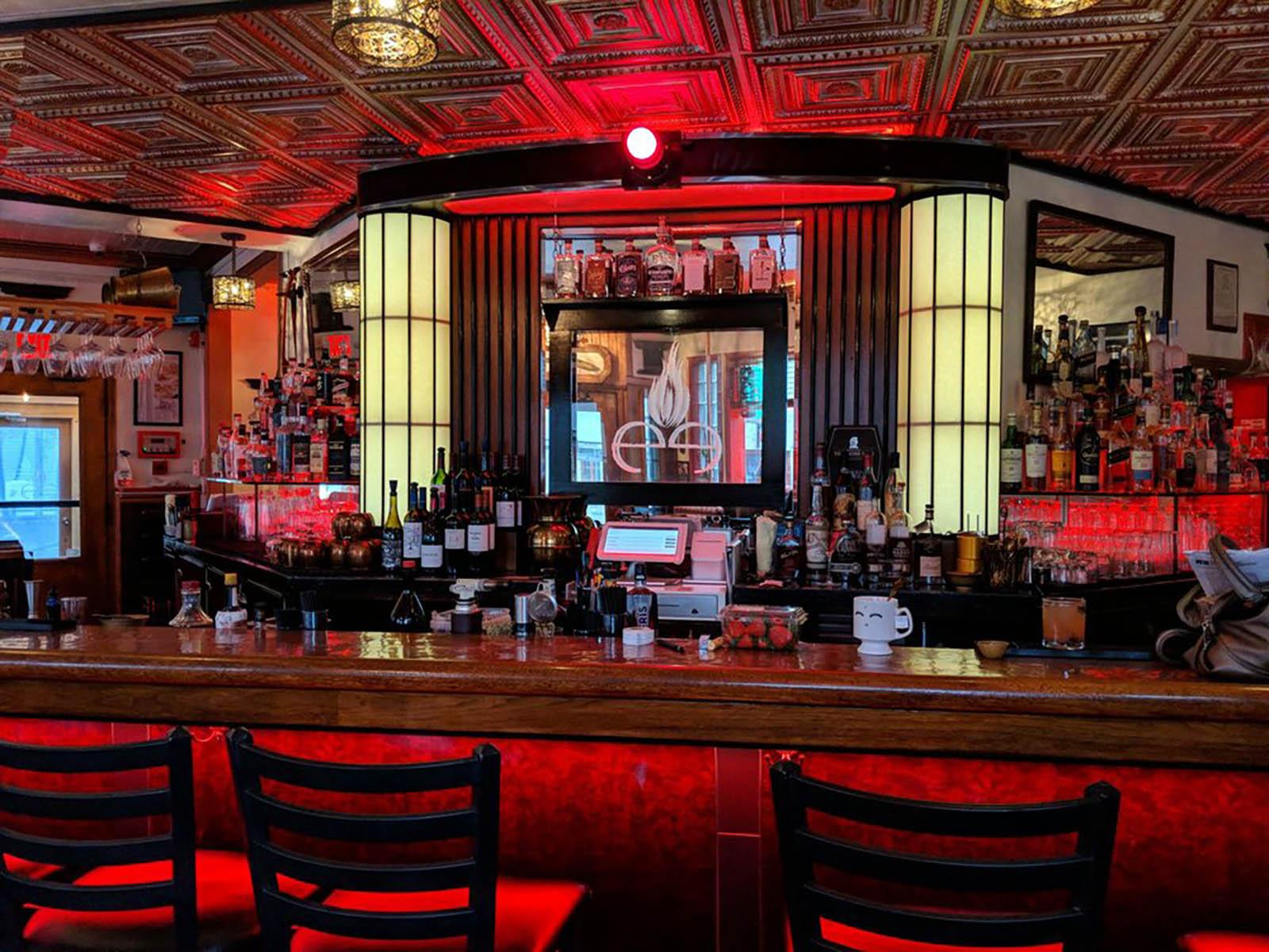 The Cheel back bar