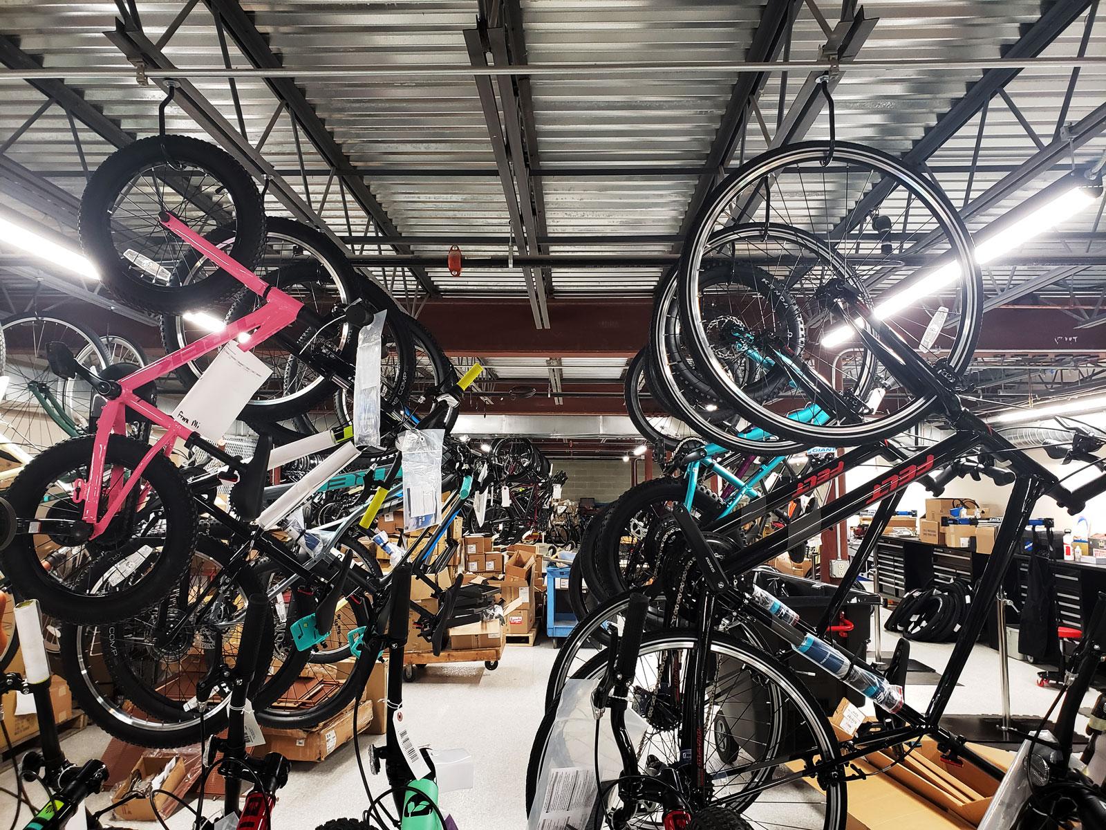 Bikes upon bikes.