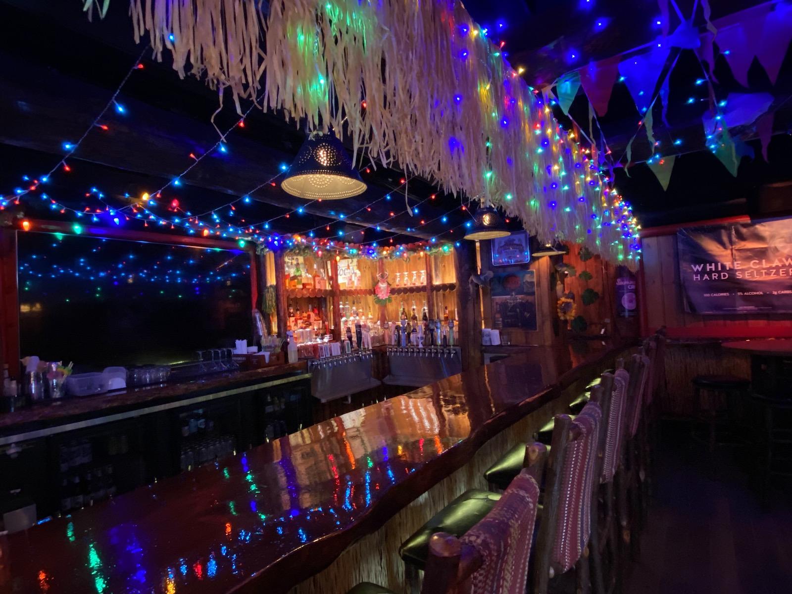 lights at tiki bar