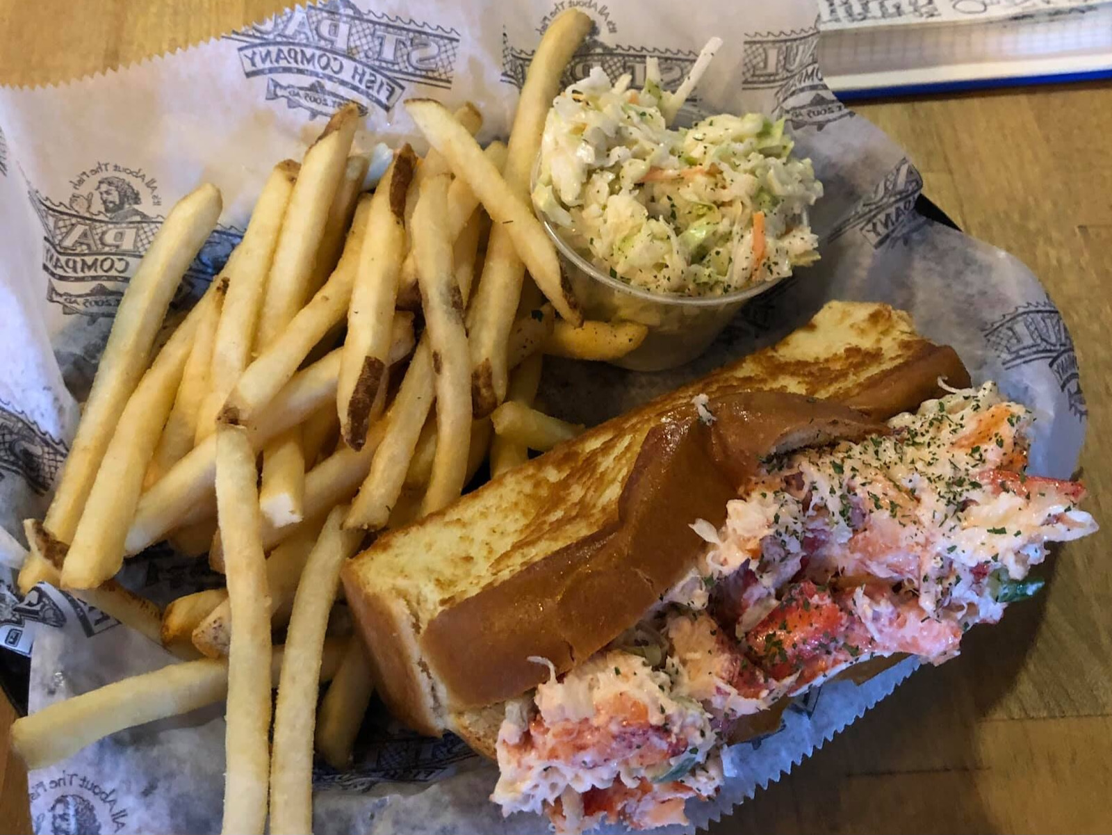 Lobster roll at St. Paul Fish Co.