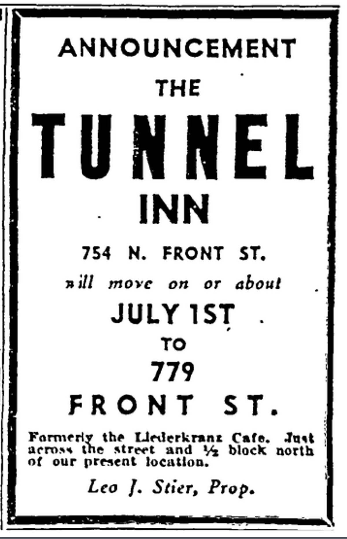 Tunnel Inn moving