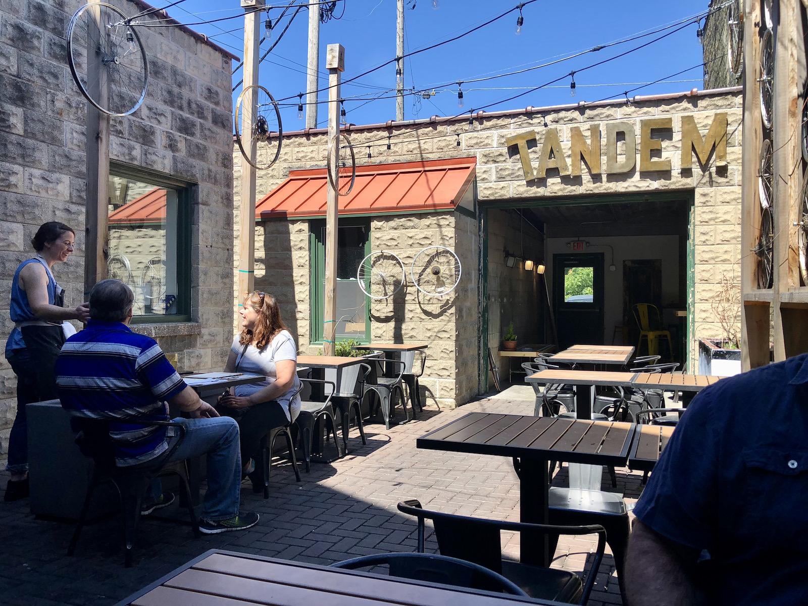 The Tandem patio