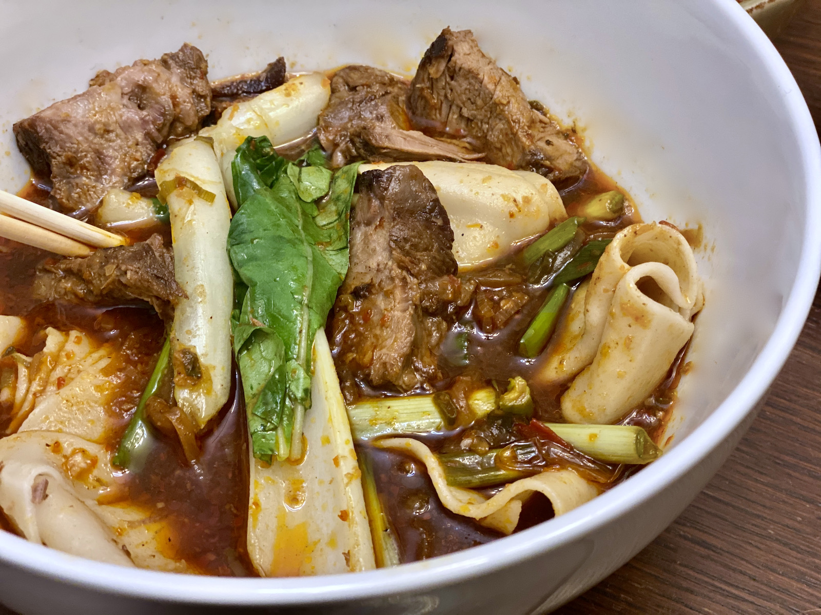 Taiwanese beef noodles from Dandan