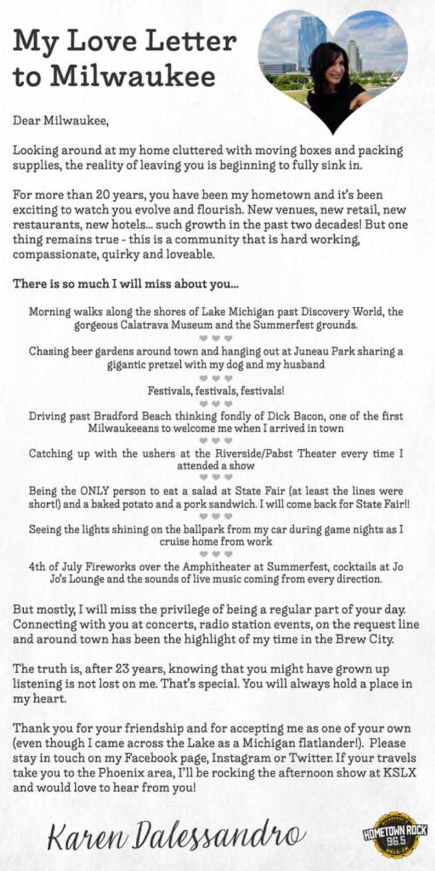 Karen Dalessandro letter
