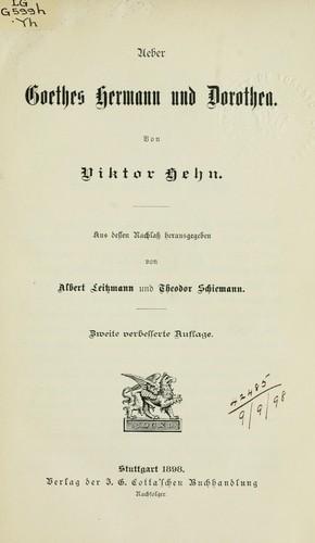 Ueber Goethes Hermann ...