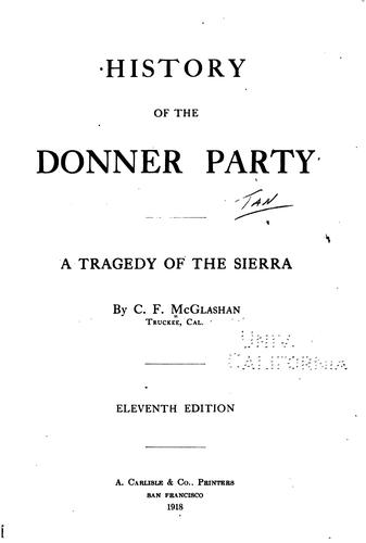 History of the Donner ...