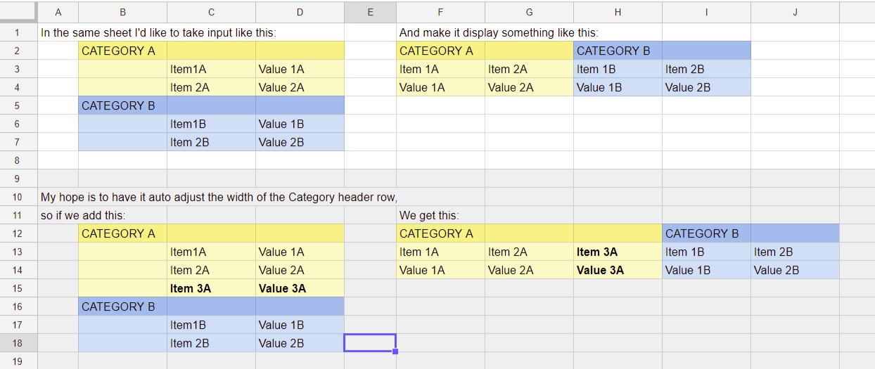 Google Sheets Transposing With Header Row Web Applications Stack