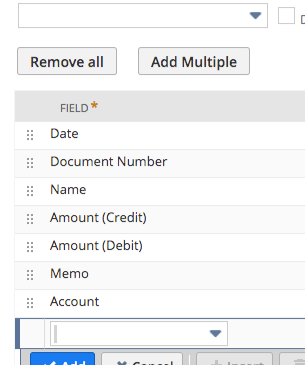 RE: Saved search for journal entries that contain specific account. Result will show all line items
