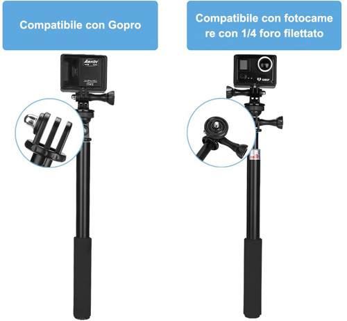 Bastone Selfie Ghb compatibile con Gopro e fotocamere
