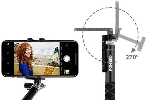 Selfie Stick Con Bluetooth E Treppiede Foneso