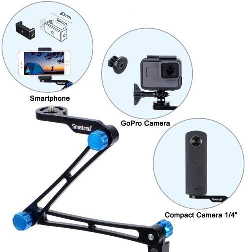 Bastone Pieghevole Smatree X1s Con Treppiede Per Gopro Smartphone E Action Cam