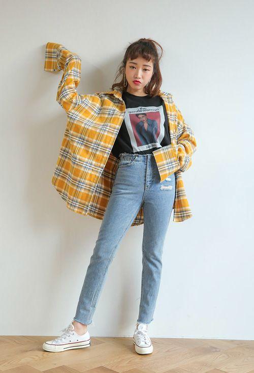 kiểu quần jean ống đứng