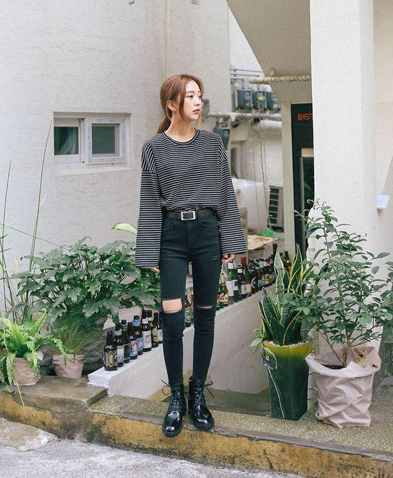 kiểu quần jean skinny