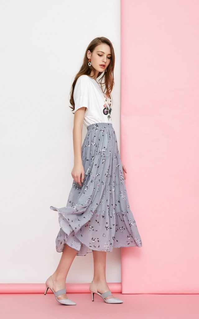 Xu hướng chân váy voan cho mùa hè 2019