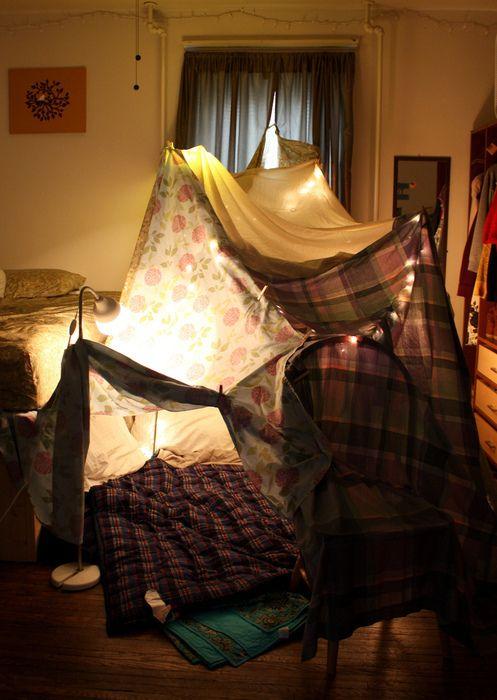 cắm trại tại nhà
