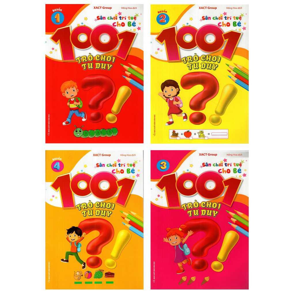Trọn bộ 1001 Trò chơi tư duy gồm 8 cuốn sách cho bé