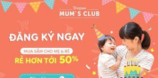 Tham gia Shopee Mum Club