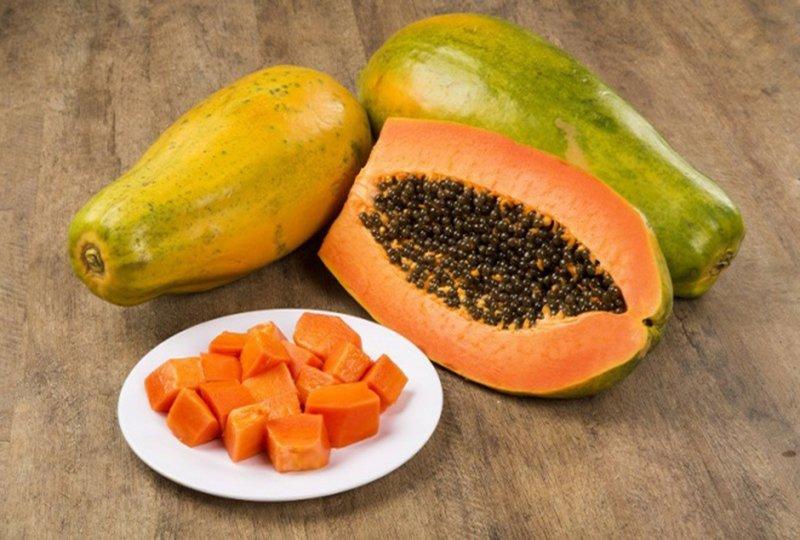 Đu đủ chứa hàm lượng vitamin c vô cùng to lớn giúp bạn ngăn ngừa được các bệnh lý