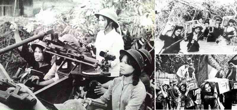 Phụ nữ - thời chiến cầm súng, thời bình cầm cuốc