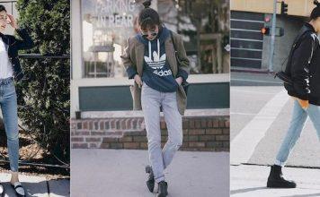 cách phối đồ mùa đông với quần jean