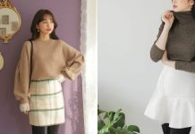các mẫu váy dạ mùa đông