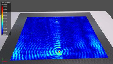 [Translate to Französisch:] contactless detection of local defect resonances