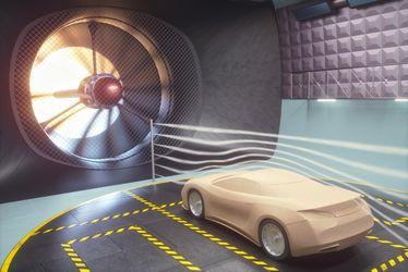 Windkanal Auto Vibrationen Akustik messen