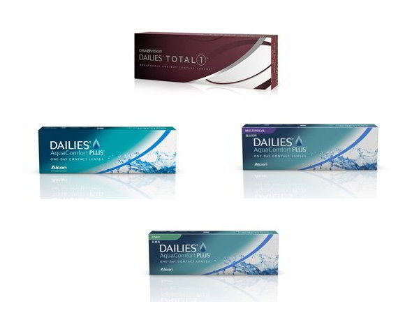 Meet the Dailies contact lenses family