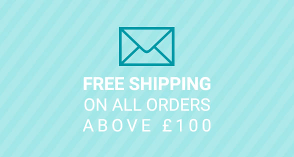 Free shipping available for orders over £100