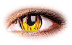 Flame Hot Contact Lenses