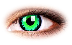 ColourVue Green Werewolf Contact Lenses