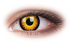ColourVue Orange Werewolf Contact Lenses