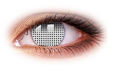 White Screen Contact Lenses