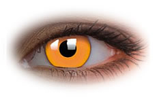 Glow Orange Contact Lenses