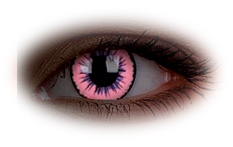 Glow Pink Jubilee Contact Lenses
