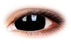 Black Titan 17mm Mini Sclera Contact Lenses