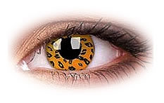 Yellow Leopard Contact Lenses