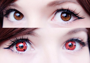 ColourVue Crazy Sasuke contact lenses - from Naruto