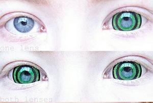 ColourVue Mini Sclera Green Goblin contact lenses