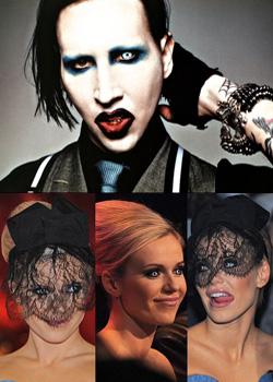 Marilyn Manson i Doda - białe soczewki