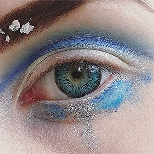 Neo Cosmo 3 Tone Aqua contact lenses on @kettuprinssi
