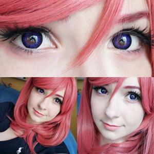 Neo Cosmo Violet Colour Ring contact lenses on @megubun_