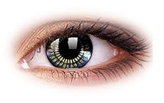 Star and Jewel Black Gold | Party Contact Lenses