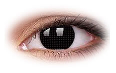 Black Screen | Black Contact Lenses